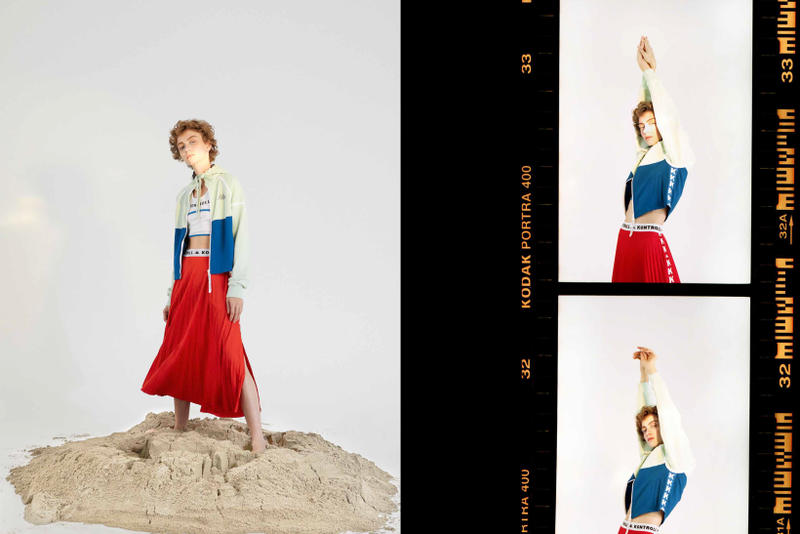 Kappa Kontroll Spring Summer 2019 Collection Lookbook Skirt Red Jacket Green Blue
