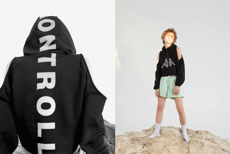 Kappa Kontroll Spring Summer 2019 Collection Lookbook Jacket Black Shorts Green