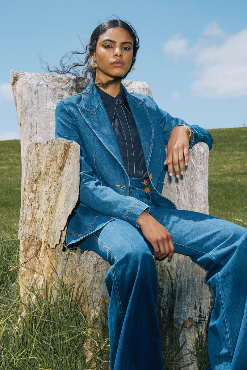 Karen Walker Fall Winter 2019 Lookbook Blazer Pants Blue