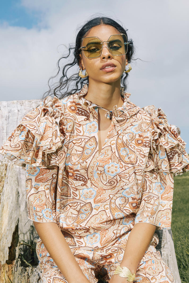 Karen Walker Fall Winter 2019 Lookbook Top Tan