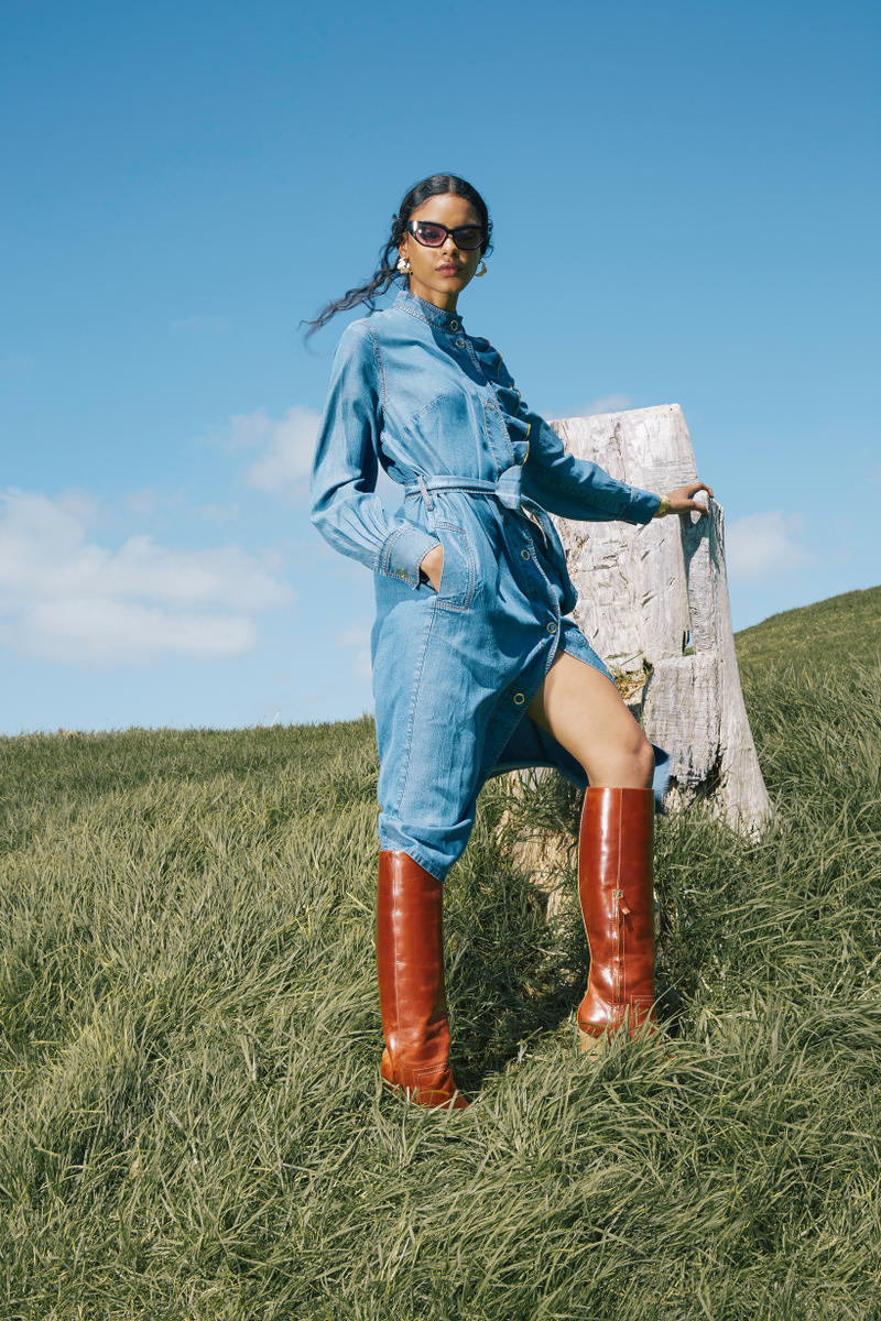 Karen Walker Fall Winter 2019 Lookbook Denim Dress Blue
