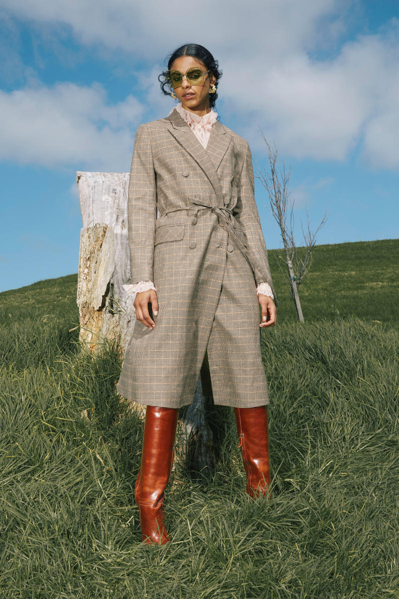 Karen Walker Fall Winter 2019 Lookbook Coat Plaid Tan