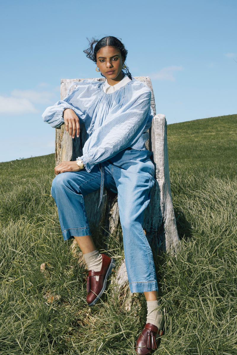 Karen Walker Fall Winter 2019 Lookbook Long Sleeved Shirt Blue