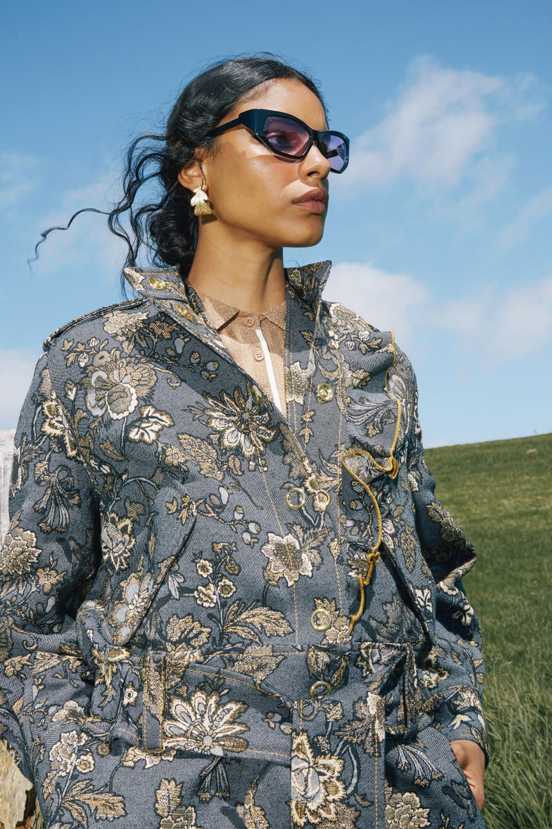 Karen Walker Fall Winter 2019 Lookbook Floral Jacket Blue