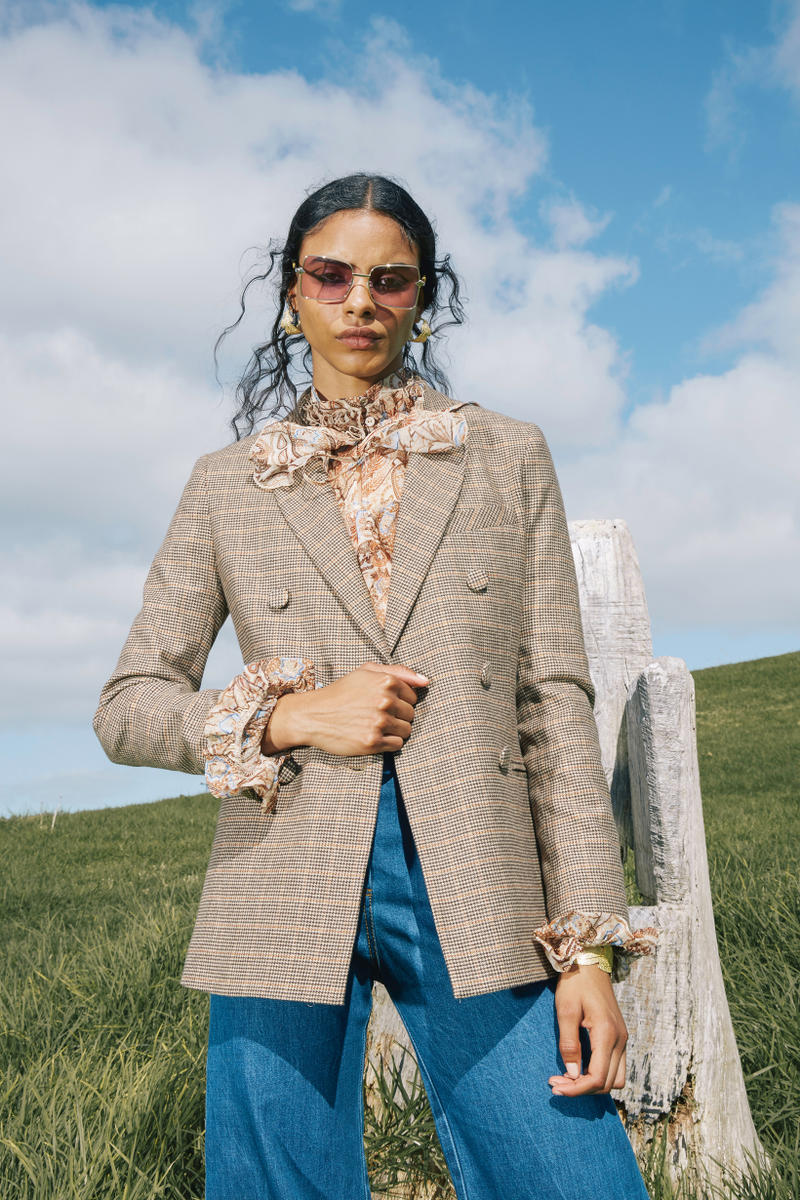Karen Walker Fall Winter 2019 Lookbook Blazer Tan