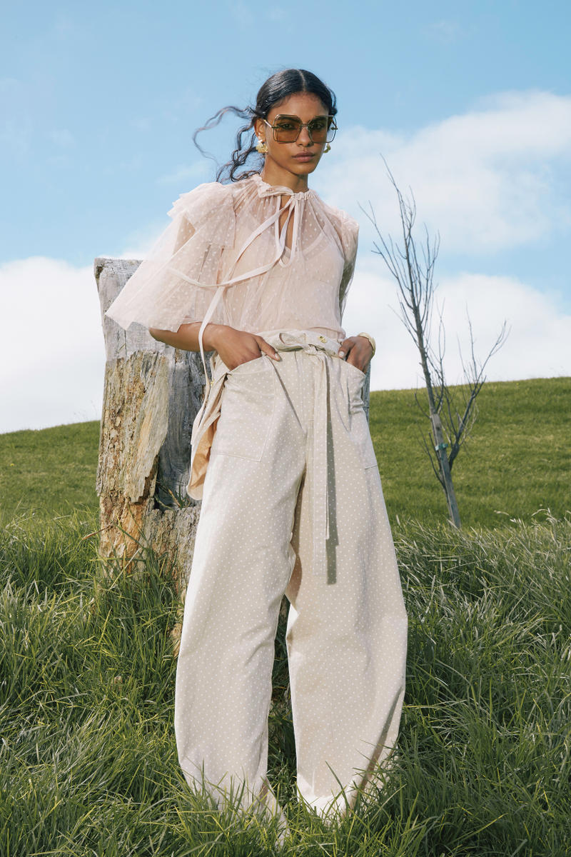 Karen Walker Fall Winter 2019 Lookbook Shirt Pants Tan