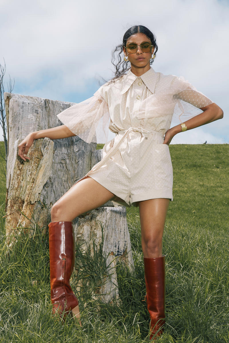Karen Walker Fall Winter 2019 Lookbook Top Shorts Tan