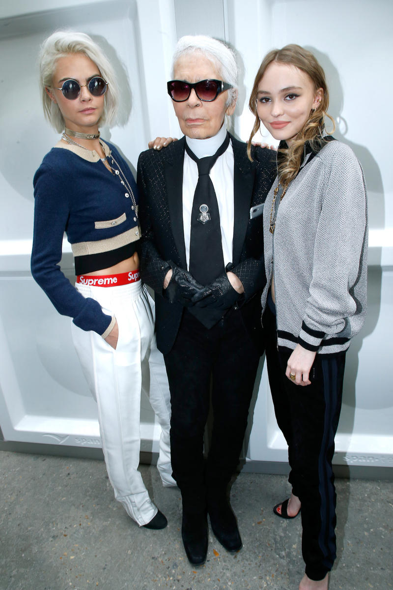 Celebrities Mourn The Loss of Karl Lagerfeld Fashion Homage Instagram Post Dedication Kendall Jenner Cara Delevingne Naomi Campbell Kim Kardashian Kris Jenner Anna Wintour Edward Enninful Lily-Rose Depp Kim Jones