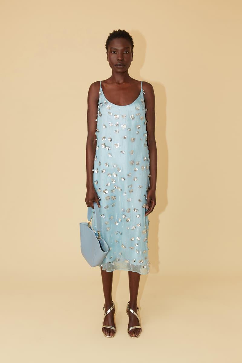 Mansur Gavriel Spring Summer 2019 Lookbook Dress Bag Blue