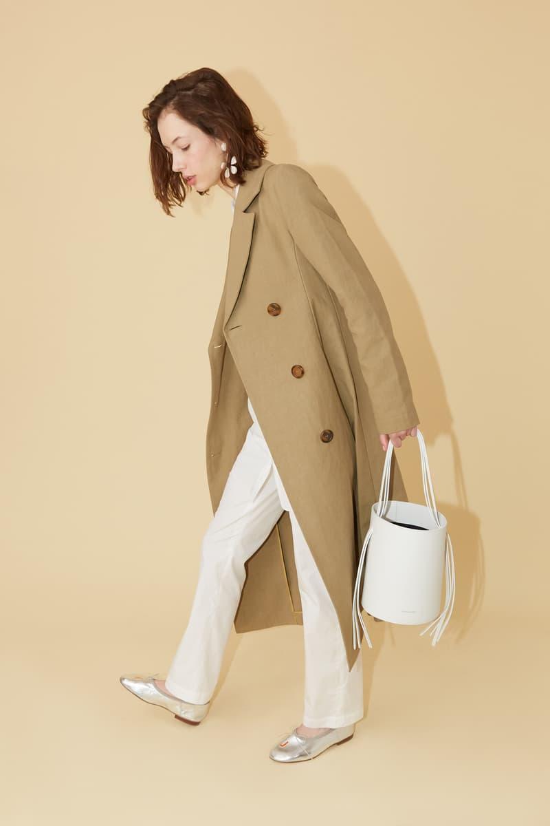 Mansur Gavriel Spring Summer 2019 Lookbook Jacket Tan Pants Bag White
