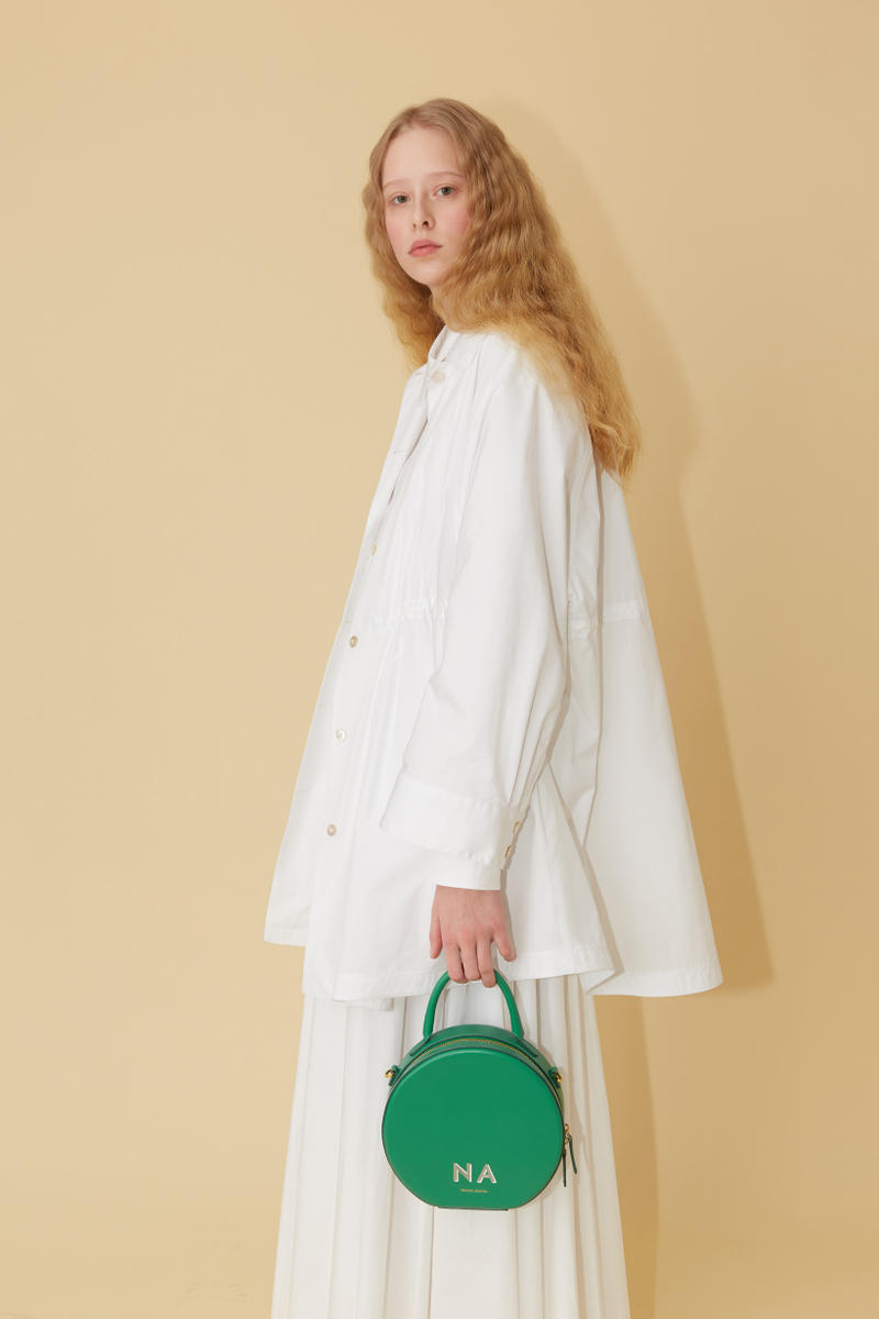 Mansur Gavriel Spring Summer 2019 Lookbook Jacket Skirt White Bag Green