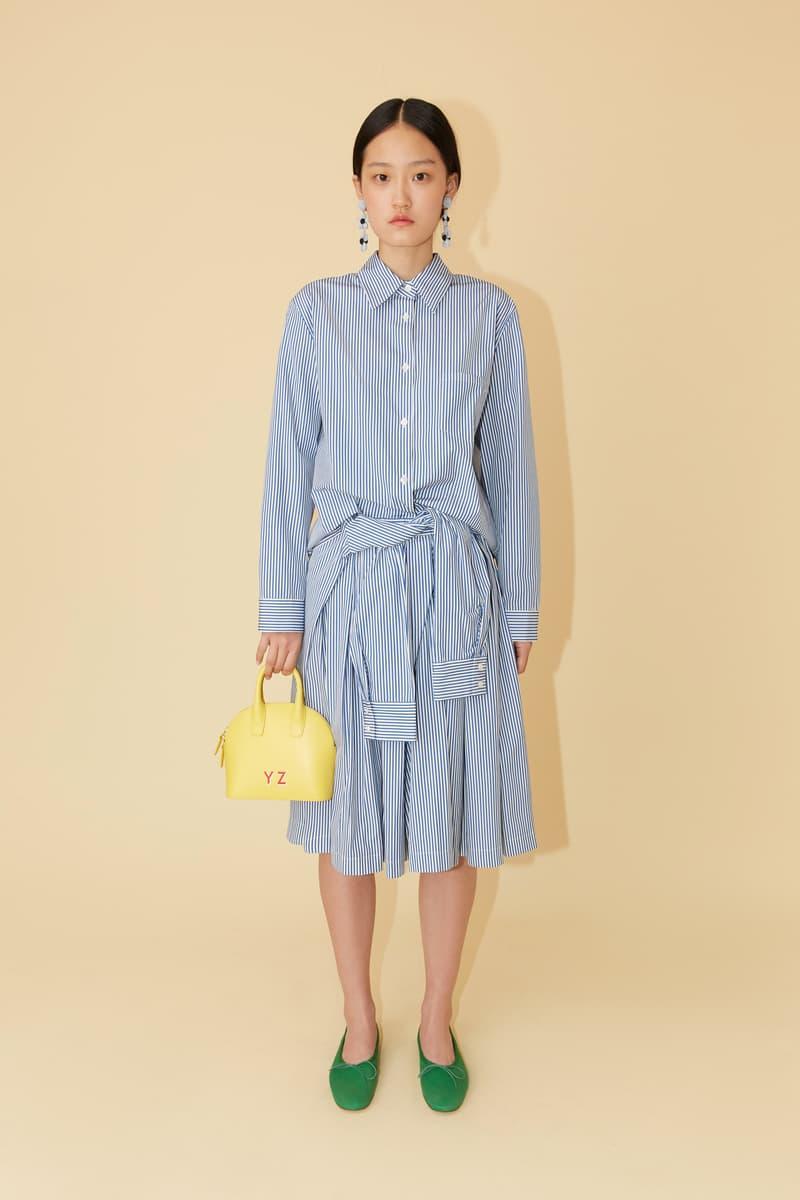Mansur Gavriel Spring Summer 2019 Lookbook Striped Dress Blue White