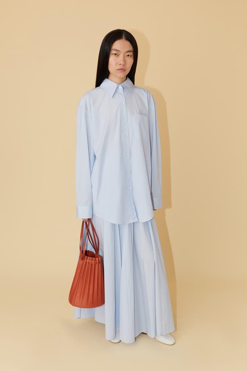 Mansur Gavriel Spring Summer 2019 Lookbook Top Skirt Blue Bag Red