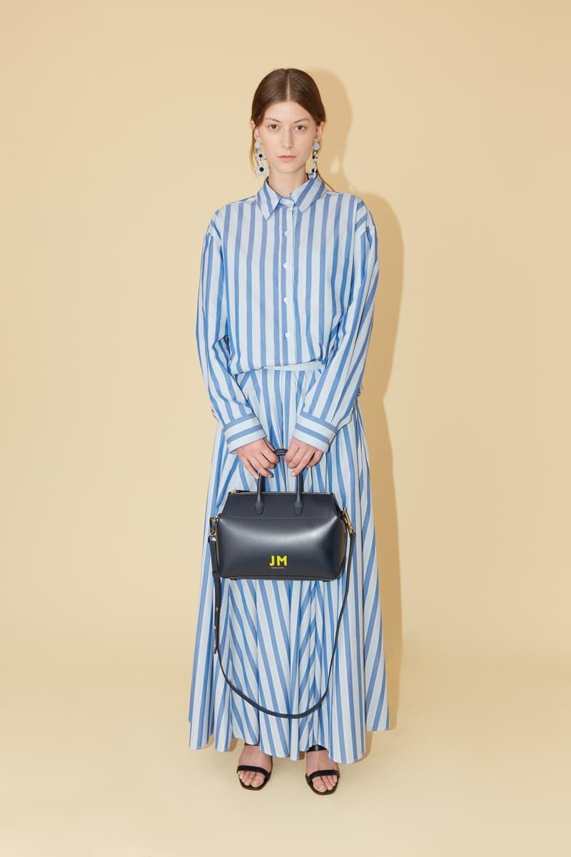 Mansur Gavriel Spring Summer 2019 Lookbook Dress Blue Handbag Black