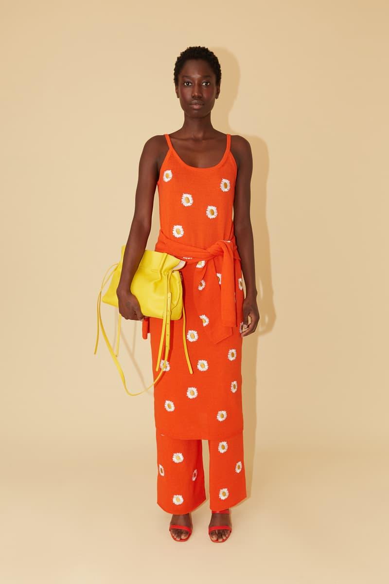Mansur Gavriel Spring Summer 2019 Lookbook Dress Pants Orange Bag Yellow