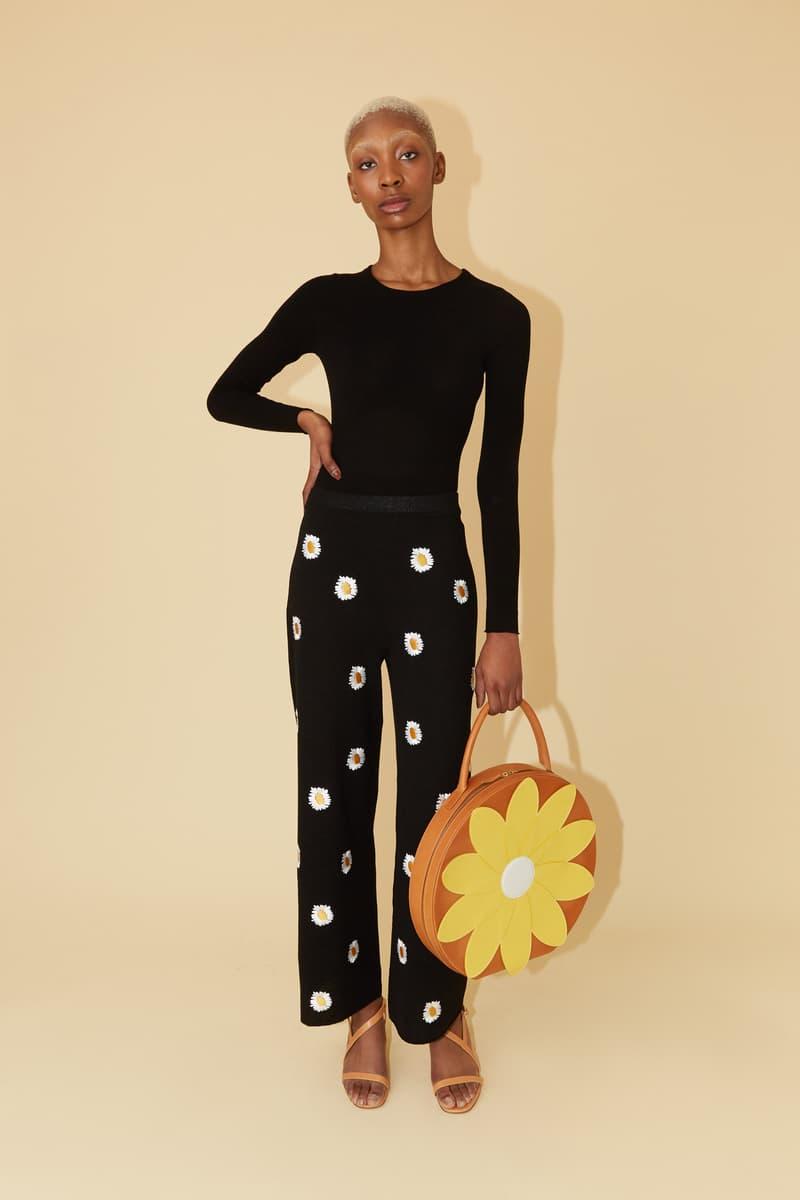 Mansur Gavriel Spring Summer 2019 Lookbook Sweater Pants Black Bag Yellow Orange