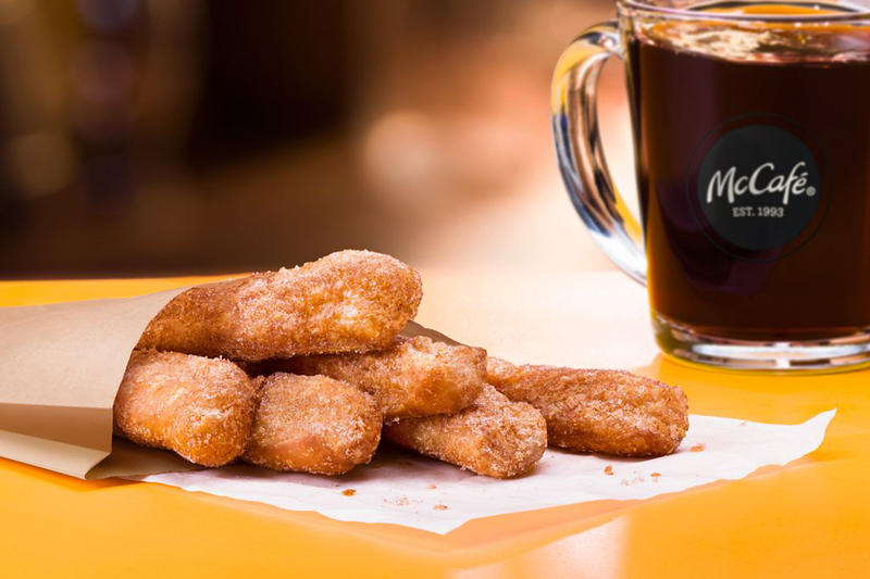 McDonalds Launches New Donut Sticks at McCafe Dessert Coffee Food Cinnamon Sugar Snack