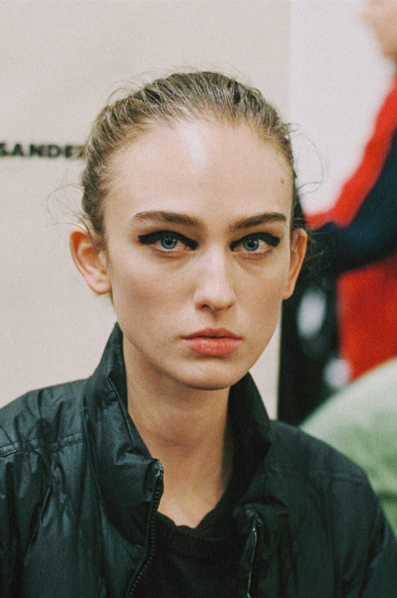 Milan Fashion Week FW19 Backstage Photo Series Jonathon Smith Jil Sander Model