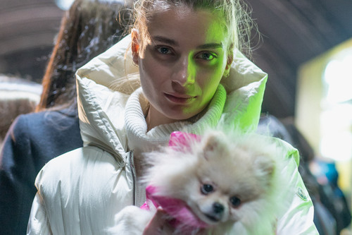 low priced 8abbc ef1fb Moncler Genius Unveils ALYX Collaboration and Puffer Jackets for Dogs at  Milan Fashion Week