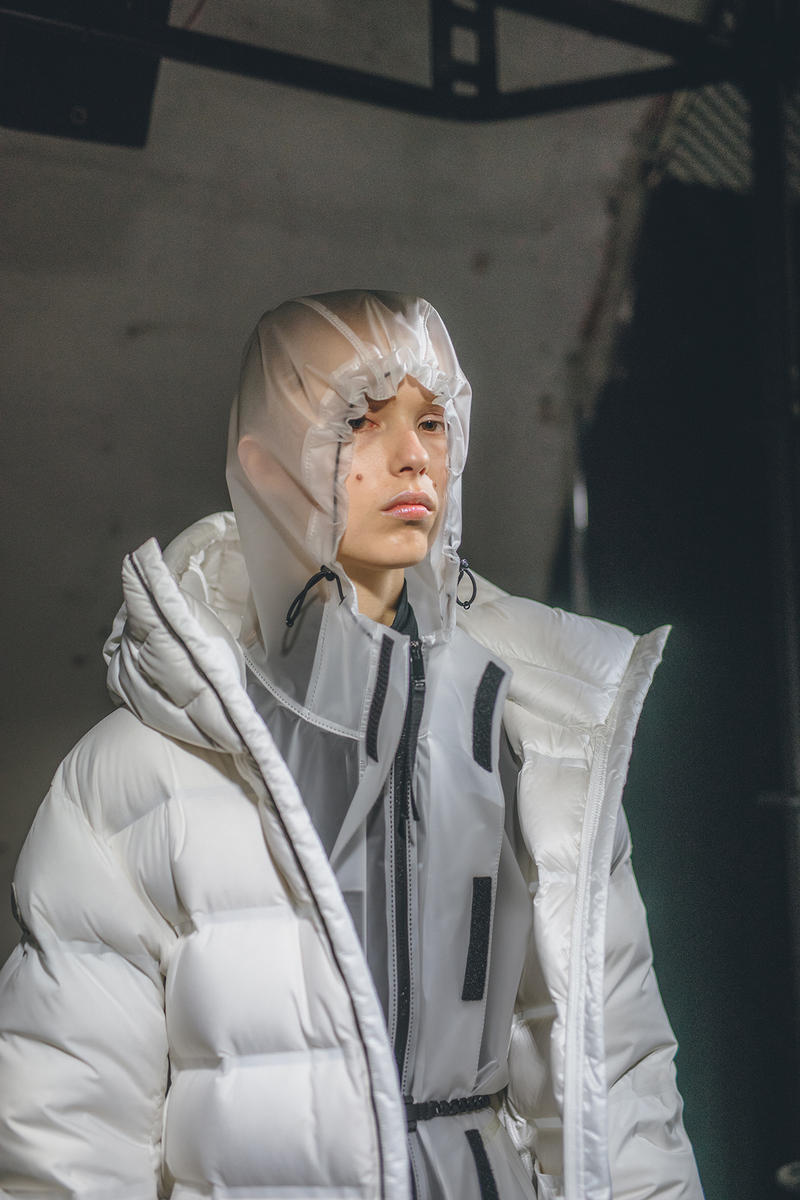 moncler genius milan fashion week presentation alyx matthew williams collaboration white jacket