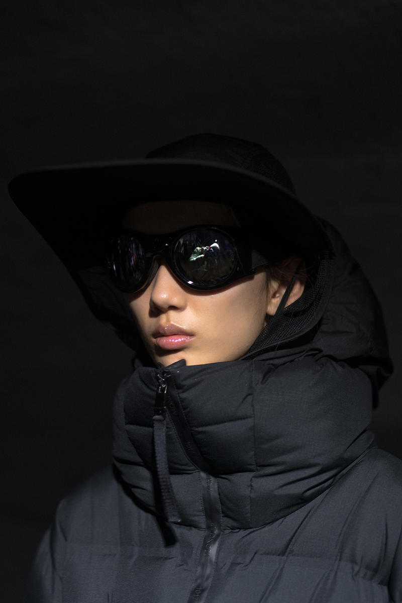 moncler genius milan fashion week presentation alyx matthew williams collaboration black sunglasses hat jacket