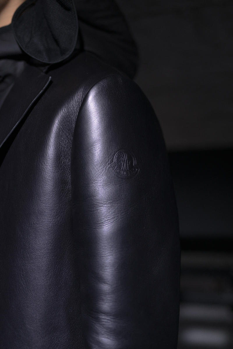 moncler genius milan fashion week presentation alyx matthew williams collaboration leather jacket black