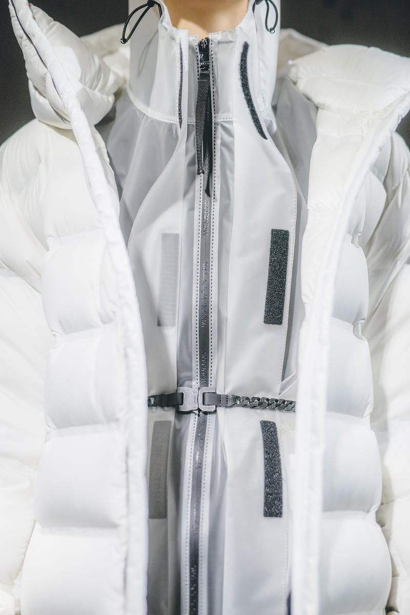 Moncler Genius Milan Fashion Week Presentation 2019 Alyx Collaboration Matthew Williams White Puffer Jacket Belt