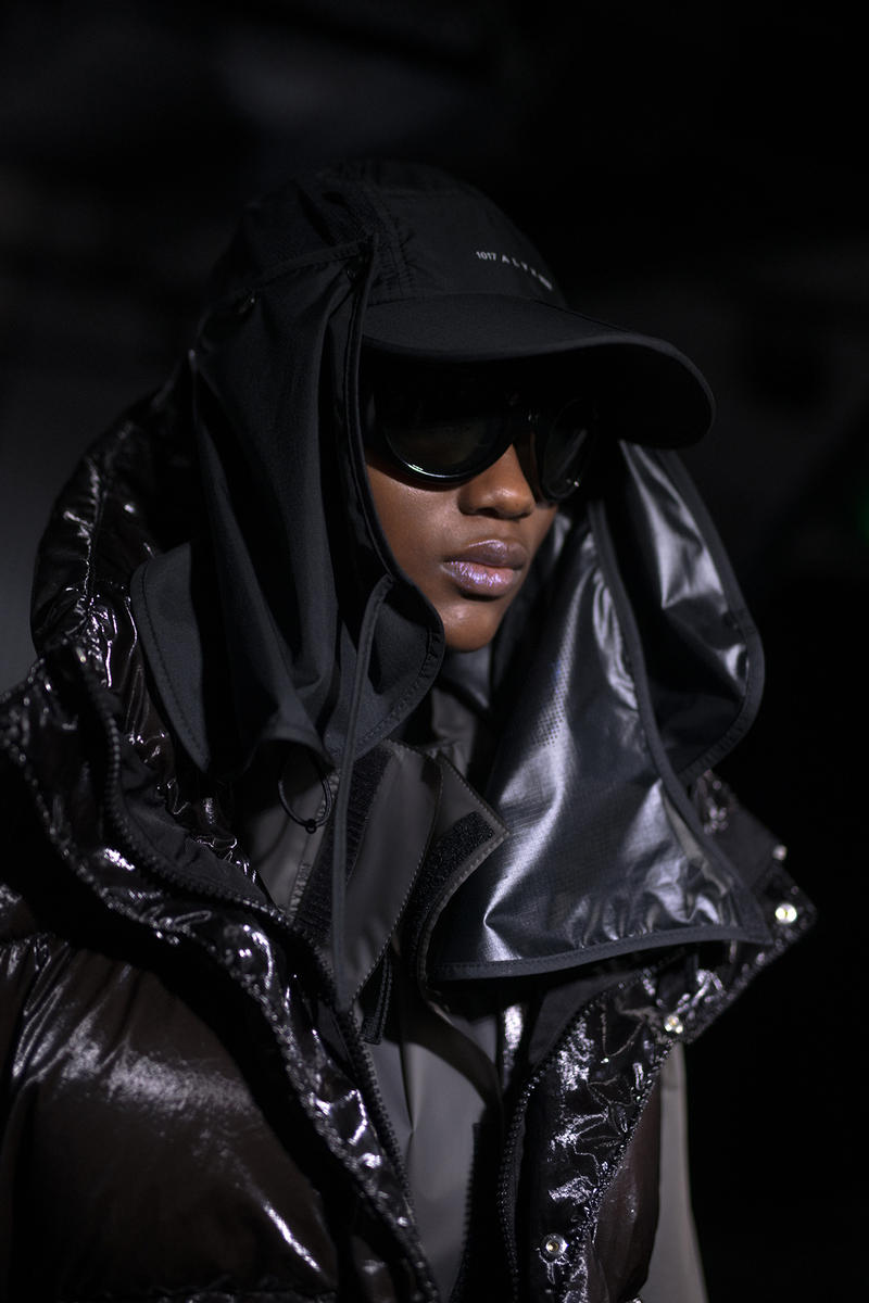 Moncler Genius Milan Fashion Week Presentation 2019 Alyx Collaboration Matthew Williams Black Sunglasses Hood