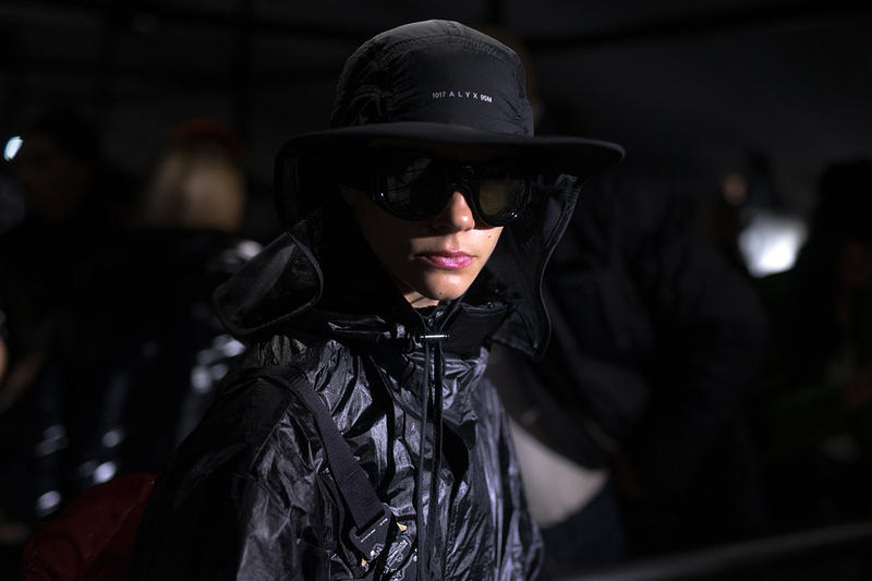 moncler genius milan fashion week presentation alyx matthew williams collaboration hat sunglasses black