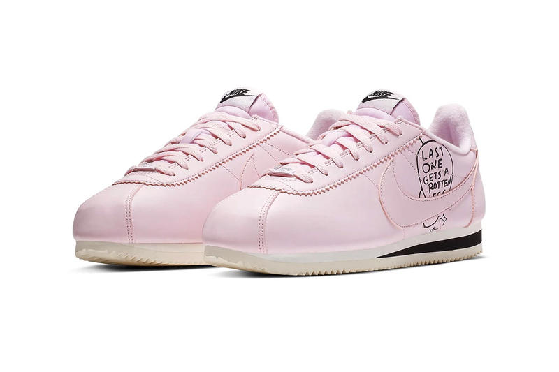 Nathan Bell and Nike Release A New Cortez Capsule Sneaker Pink White Iteration