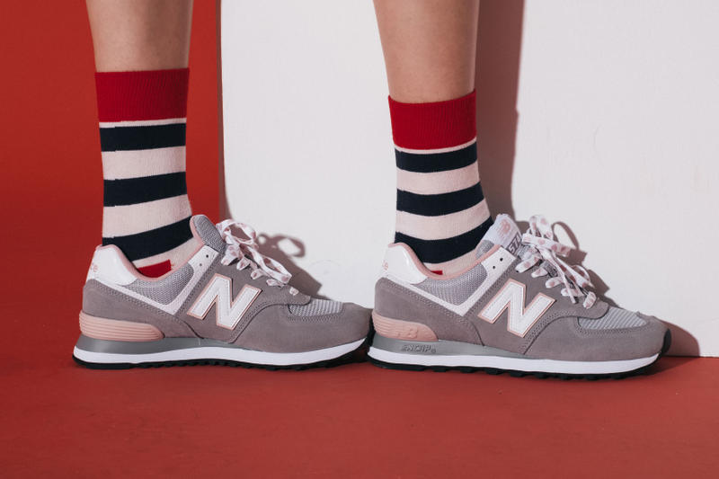 New Balance 574 Valentines Day Team Red Classic Grey