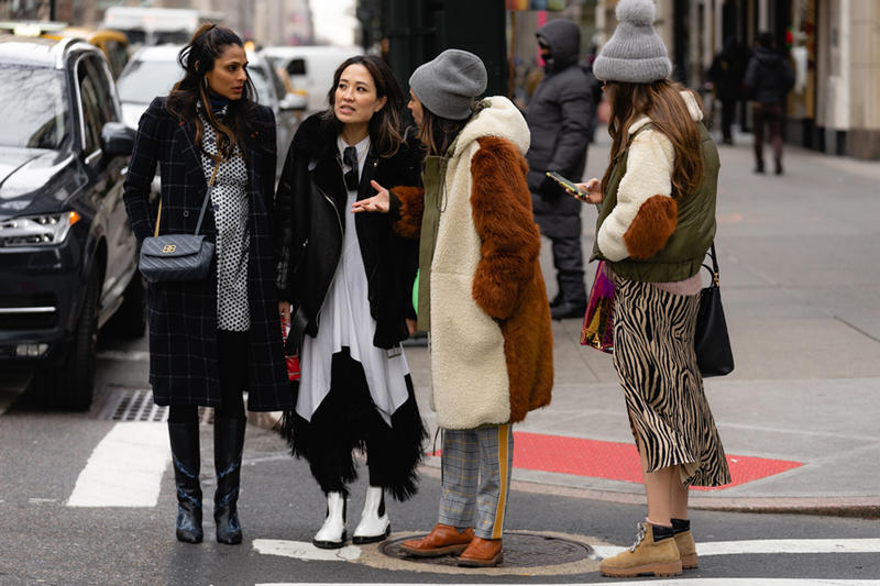 New York Fashion Week Fall Winter 2019 Street Style Snaps Coats Brown Black