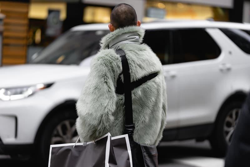 New York Fashion Week Fall Winter 2019 Street Style Snaps Ambush x Nike Coat Green Black