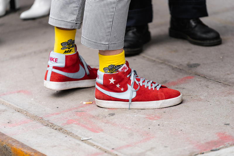 New York Fashion Week Fall Winter 2019 Street Style Snaps Nike Blazer Red