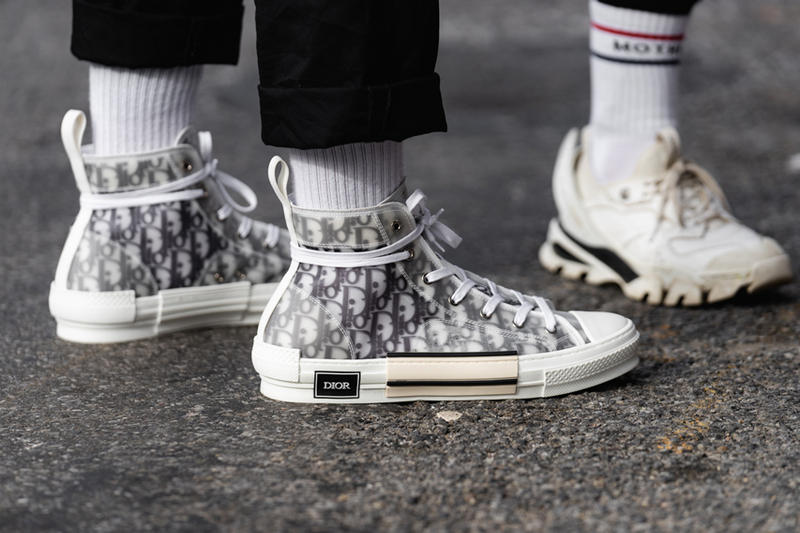 New York Fashion Week Fall Winter 2019 Street Style Snaps Dior Sneakers White Black