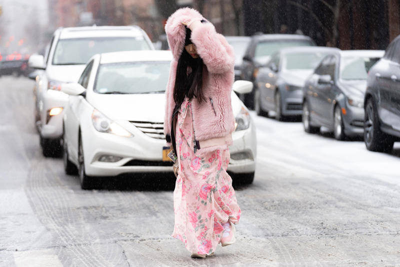 New York Fashion Week Fall Winter 2019 Street Style Snaps Susie Bubble Coat Pink