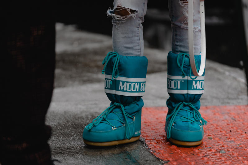 New York Fashion Week Fall Winter 2019 Street Style Snaps Boots Blue