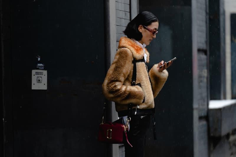 New York Fashion Week Fall Winter 2019 Street Style Snaps Faux Fur Coat Brown