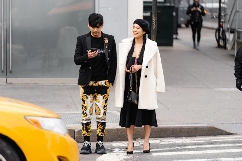New York Fashion Week Fall Winter 2019 Street Style Snaps Coats Black Cream