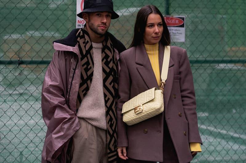 New York Fashion Week Fall Winter 2019 Street Style Snaps Coats Brown Fendi Bag Cream