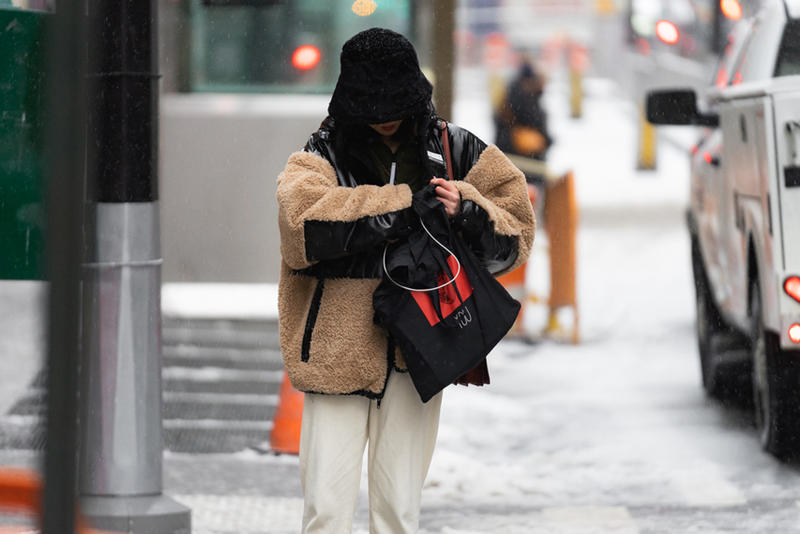 New York Fashion Week Fall Winter 2019 Street Style Snaps Jacket Tan Bag Black