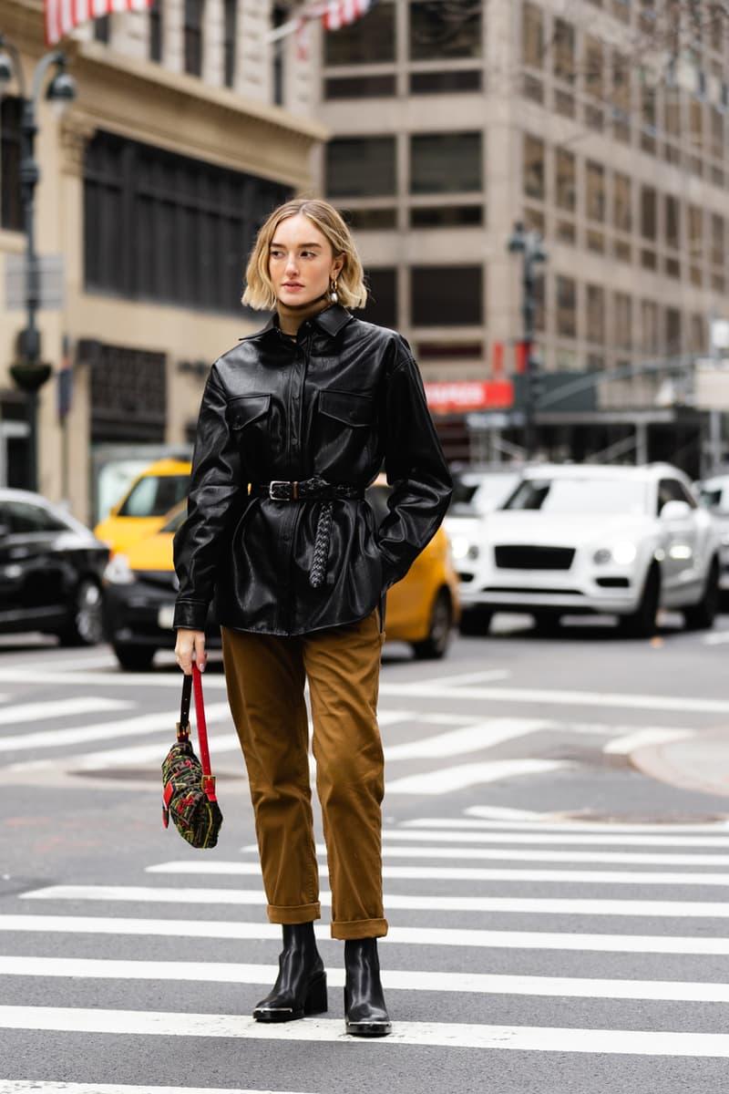 New York Fashion Week Fall Winter 2019 Street Style Snaps Coat Black Pants Brown