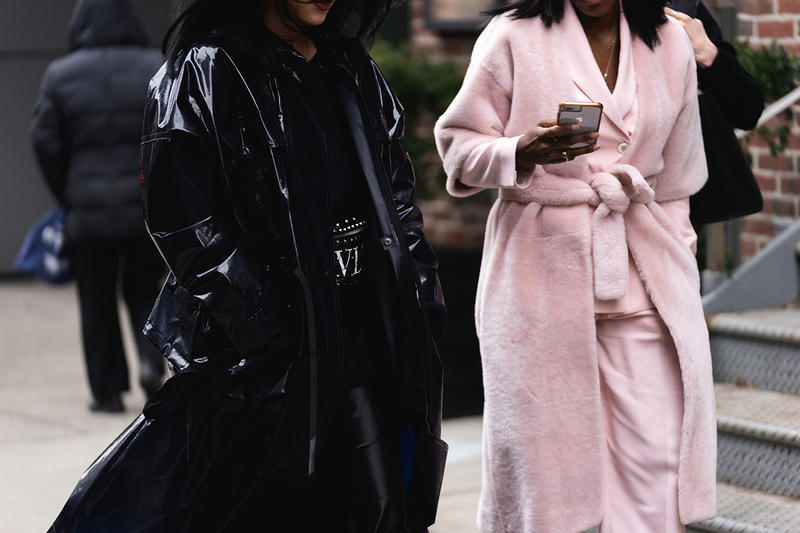 new york fashion week nyfw fall winter 2019 fw19 street style bloggers influencers valentino pink fur coat