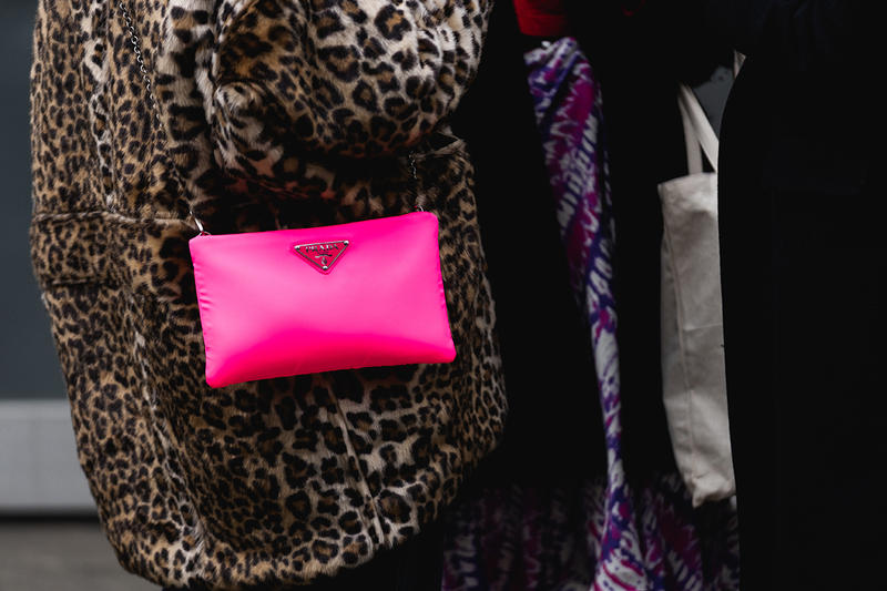 new york fashion week nyfw fall winter 2019 fw19 street style prada neon pink bag