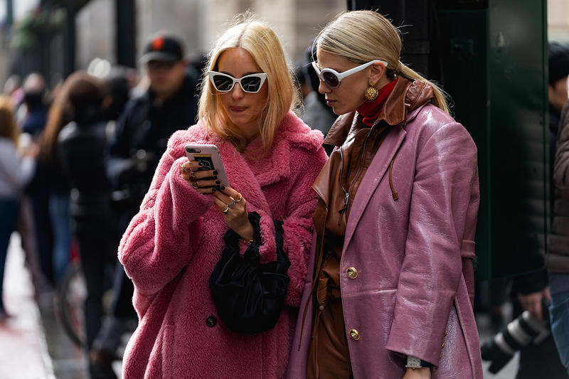 new york fashion week nyfw fall winter 2019 fw19 street style bloggers influencers pink coats cat eye sunglasses