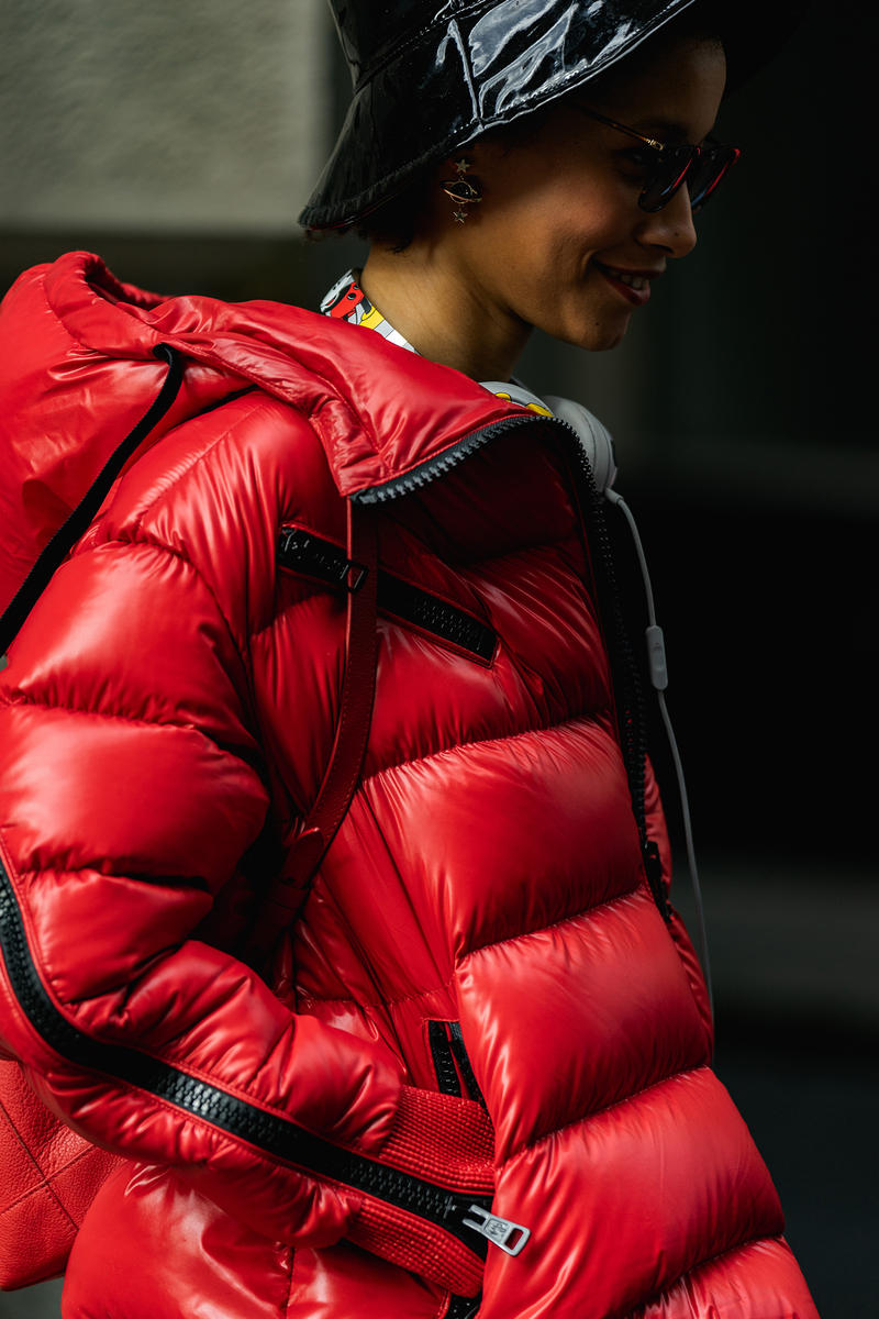 new york fashion week nyfw fall winter 2019 fw19 street style blogger influencer red puffer jacket