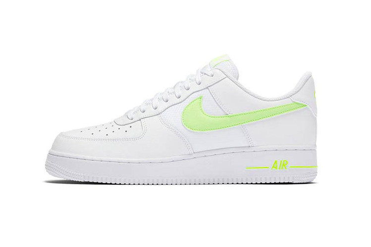 brand new 61197 1f4a8 Nike Adds a Neon Swoosh to the Latest Air Force 1