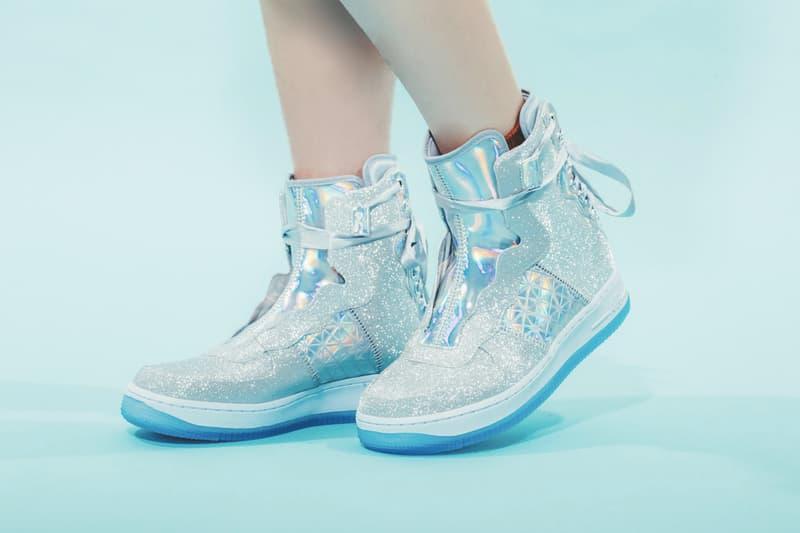 Nike Air Force 1 REBEL XX Silver Glitter Release Sneaker Shoe Footwear  Trainer Sparkly Statement Streetwear 07a90e6e4f