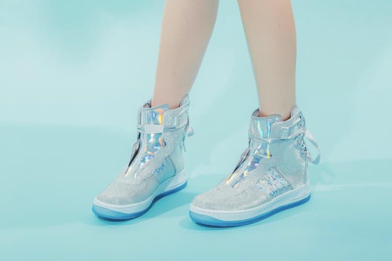 Nike Air Force 1 REBEL XX Silver Glitter Release Sneaker Shoe Footwear Trainer Sparkly Statement Streetwear