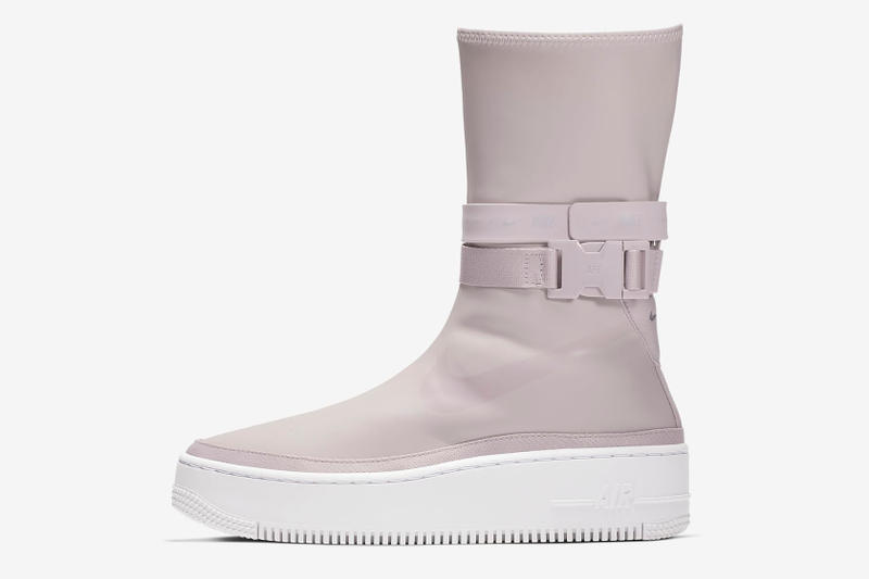 Nike Air Force 1 Sage Hi Sneaker Boot Violet Ash Transparent See Through